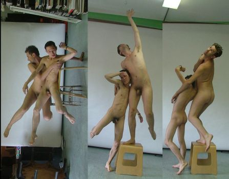 Flying Male Nudes 2 by TheMaleNudeStock