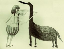 alice and horse by manlitu