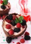 Summer Berry Mocha Mousse Cups by theresahelmer