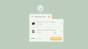 Shopping Cart Dropdown Free .PSD by emrah-demirag