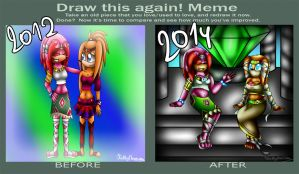 .:Kathy and Tikal- clothes switched (draw again):. by Kathy-the-echidna