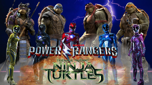 TMNT and Power Rangers Crossover Movie Fan Poster by RaidenRaider