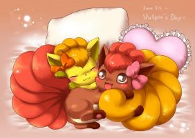 The Cute Vulpix Twins by Glamorivulpix