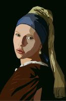 Girl With a Pearl Earring by stellenero