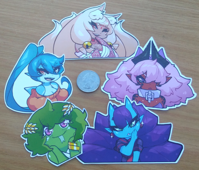 [01] Monster Girl Stickers by Saane