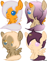 Mocha Orange and Sherbet Breedable foals by SeraphineFrost
