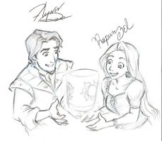 Disneyland -Rapunzel and Flynn by kolidescope