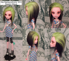 Custom Monster High Wig by BeanSproutMomo