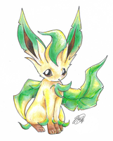 A Simple Leafeon by super-tuler