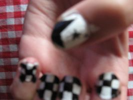 Roxas inspired nails :D by hylian-dragoness