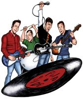 Flipside Band Illustration by hcnoel