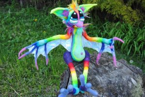 Rainbow Fruit Bat by Tanglewood-Thicket