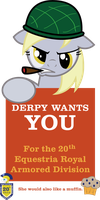 20th ERAD Recruitment Poster - Derpy by ProfessorBasil