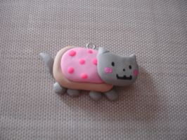Polymer Clay Kawaii Nyan Cat Charm by PiinkKittyy