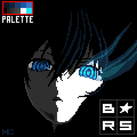 Black Rock Shooter Head Pixel by BurntRevenge