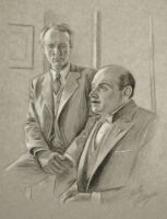 Poirot and Hastings - The ABC Murders by auggie101