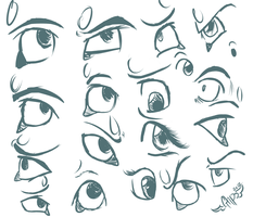 Eye Sketch Sheet by TheGreatHushpuppy