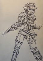 Armoured Gun Girl by S-E-S