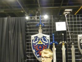 Chicago ComicCon 2014 - Master Sword and Sheild by InsaneSpyro