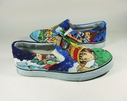 Ghibli lover , custom slip ons by Annatarhouse