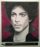 Prince Tribute portrait drawing by NormaeJean