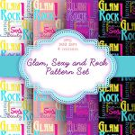 Glam, Sexy and Rock Pattern Set by GABY-MIX