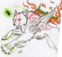 okami amaterasu run by Suenta-DeathGod
