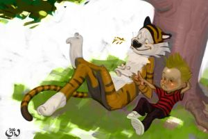 Calvin and Hobbs 2 by FUNKYMONKEY1945