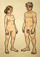 Two Nudes: His and Hers by mostlymade