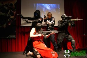 Leon, Vector, Ada y Spectre RE ORC Cosplay 2 by yandrak775