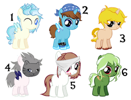 Filly Pony Adoptables by 9-ToyBonnie