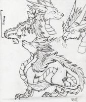 dragon trade sketch by Suenta-DeathGod