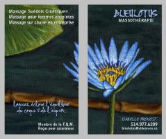 BLEULOTUS Business Card by misfitmalice
