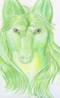 Eyes of Yellow, Fur of Green by ErothBlackDragon