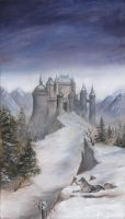 Castle and Wolf by dashinvaine