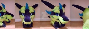 GREEN DRAGON FURSUIT PARTIAL by Kloofcat