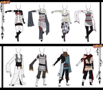Naruto Adoptable Outfit Set 15 - Closed by Orangenbluete