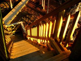 stairs of the watchtower by athmosfear