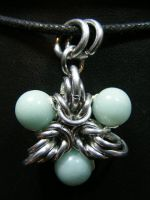 amazonite elf star pendant by BacktoEarthCreations