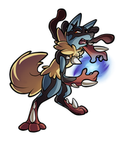 Mega Lucario Commission by PrinceofSpirits