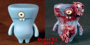 Zombie Wedgehead uglydoll COMP by Undead-Art