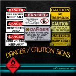 Danger/Cautions signs by M10tje