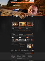 Brilliant Theme Creative Unique PSD Theme - Dark by brillianthemes