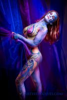 Purple and Gold Body Paint by oldmacman
