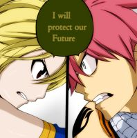 Lucy and Natsu - Fairy Tail Ch.327 by rrrb50