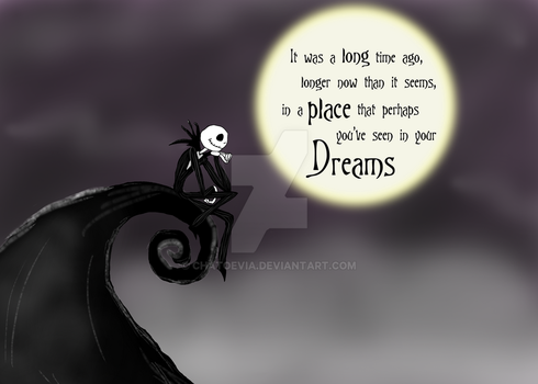 Thinking of you - Jack Skellington by Chatoevia