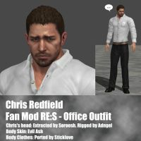 Chris Redfield RES Office outfit by Adngel