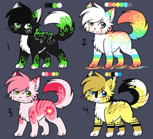 $1.50 Paypal Adoptables :OPEN: by Darkaiya
