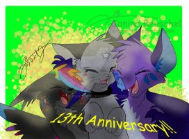 13th Anniversary of Katinka by JB-Pawstep