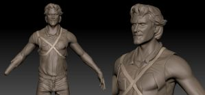 Ash Williams (Evil Dead, Army of Darkness) - WIP by FoxHound1984